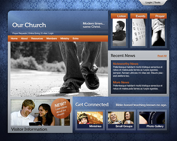 Church Website 103 Home Page