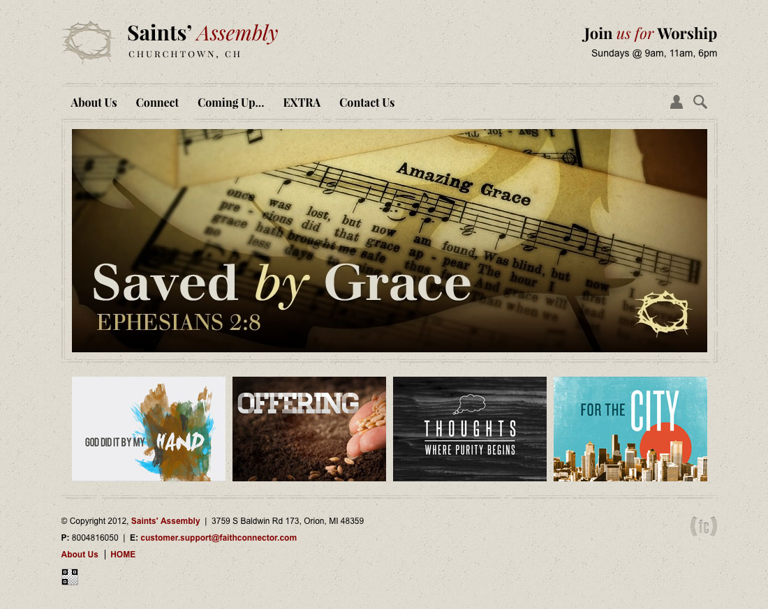 Church Website 1203 Home Page
