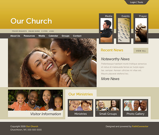 Church Website 203 Home Page
